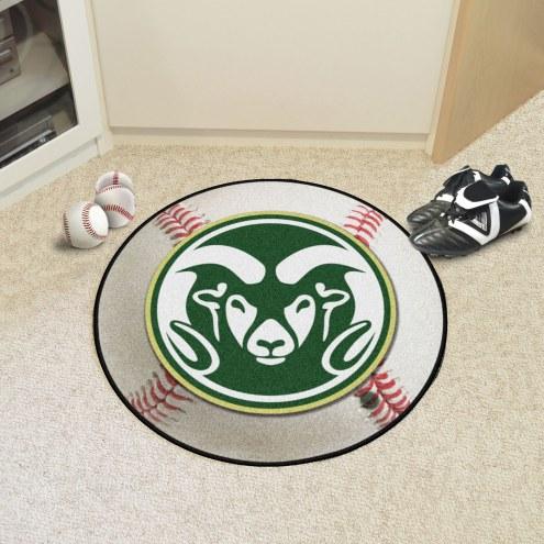 Colorado State Rams Baseball Rug