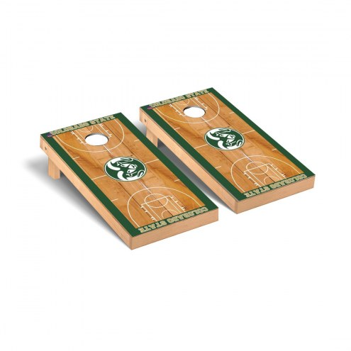 Colorado State Rams Basketball Court Cornhole Game Set