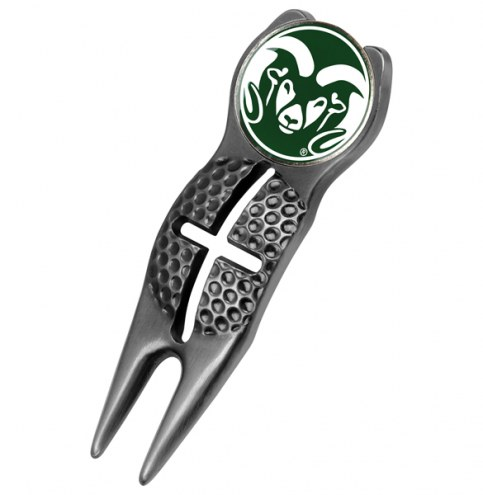 Colorado State Rams Black Crosshairs Divot Tool