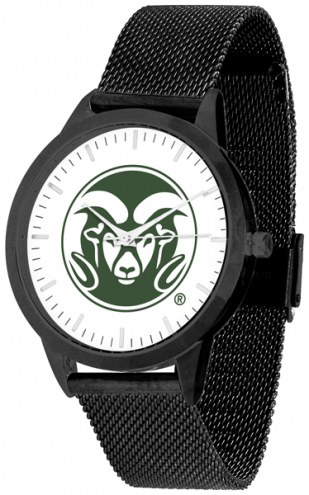 Colorado State Rams Black Mesh Statement Watch