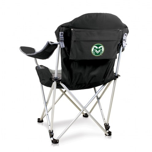 Colorado State Rams Black Reclining Camp Chair