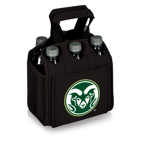Colorado State Rams Black Six Pack Cooler Tote