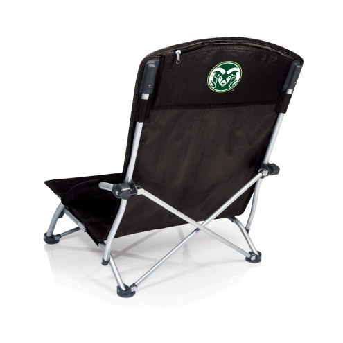 Colorado State Rams Black Tranquility Beach Chair
