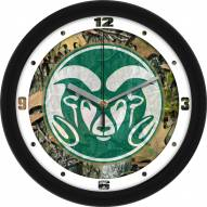 Colorado State Rams Camo Wall Clock