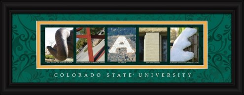 Colorado State Rams Campus Letter Art