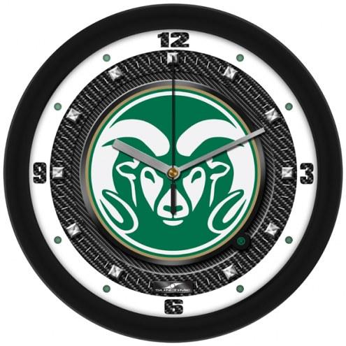 Colorado State Rams Carbon Fiber Wall Clock