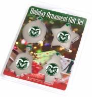 Colorado State Rams Christmas Ornament Gift Set