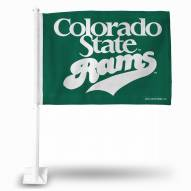 Colorado State Rams College Car Flag