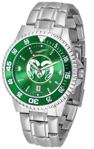 Colorado State Rams Competitor Steel AnoChrome Color Bezel Men's Watch