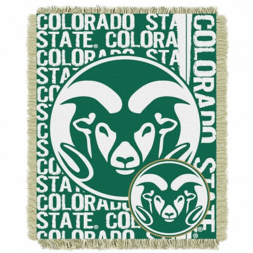 Colorado State Rams Double Play Woven Throw Blanket