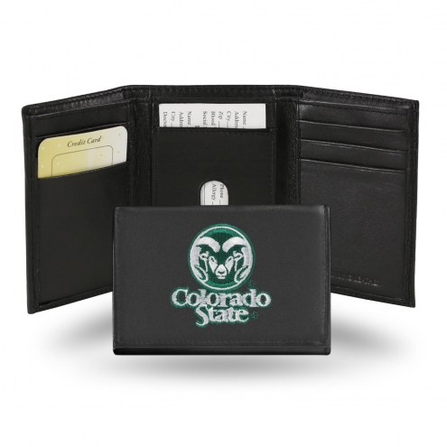 Colorado State Rams Embroidered Leather Tri-Fold Wallet