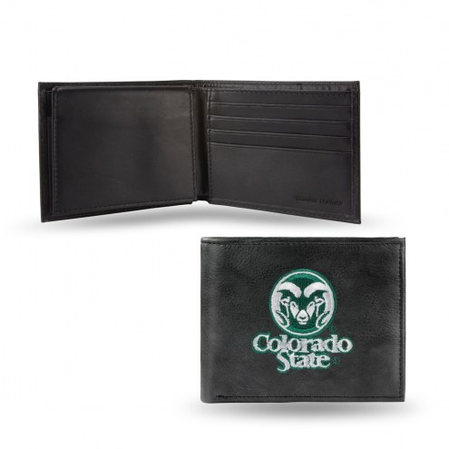 Colorado State Rams Embroidered Leather Billfold Wallet