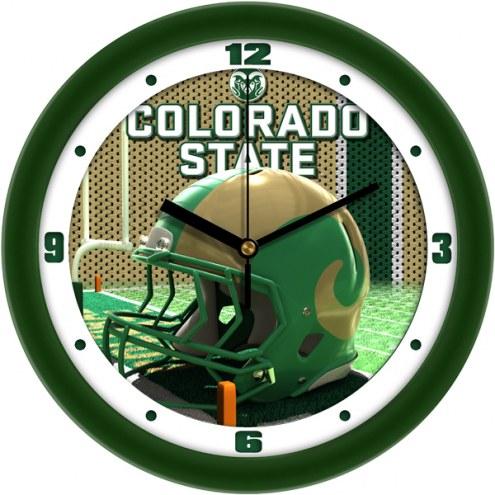 Colorado State Rams Football Helmet Wall Clock