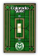 Colorado State Rams Glass Single Light Switch Plate Cover
