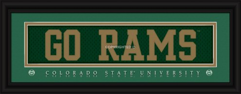 """Colorado State Rams """"Go Rams"""" Stitched Jersey Framed Print"""