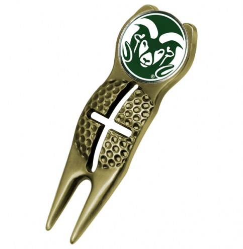 Colorado State Rams Gold Crosshairs Divot Tool