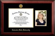 Colorado State Rams Gold Embossed Diploma Frame with Portrait