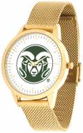 Colorado State Rams Gold Mesh Statement Watch