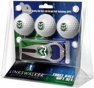 Colorado State Rams Golf Ball Gift Pack with Hat Trick Divot Tool
