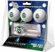Colorado State Rams Golf Ball Gift Pack with Kool Tool