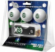 Colorado State Rams Golf Ball Gift Pack with Spring Action Divot Tool