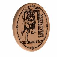 Colorado State Rams Laser Engraved Wood Sign