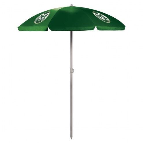 Colorado State Rams Hunter Green Beach Umbrella