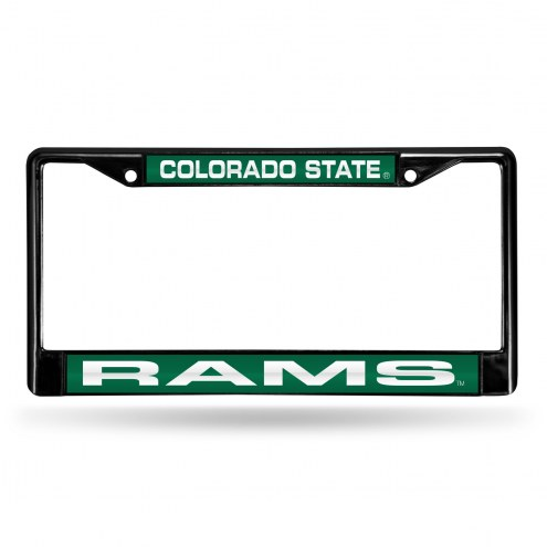 Colorado State Rams Laser Black License Plate Frame