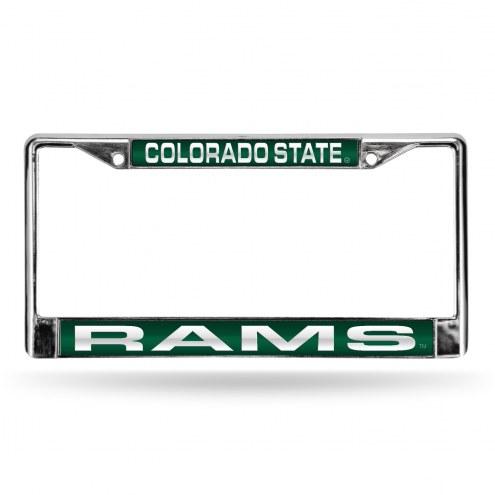 Colorado State Rams Laser Chrome License Plate Frame