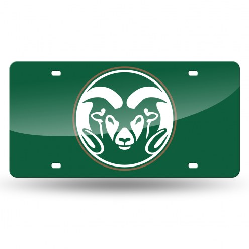 Colorado State Rams Laser Cut License Plate