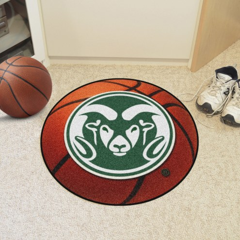 Colorado State Rams Logo Basketball Mat