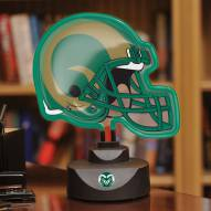 Colorado State Rams Neon Helmet Desk Lamp