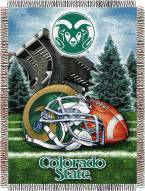 Colorado State Rams NCAA Woven Tapestry Throw Blanket