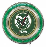 Colorado State Rams Neon Clock