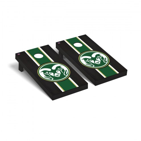 Colorado State Rams Onyx Stained Cornhole Game Set
