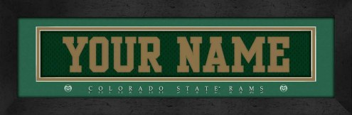 Colorado State Rams Personalized Stitched Jersey Print