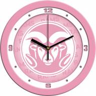 Colorado State Rams Pink Wall Clock