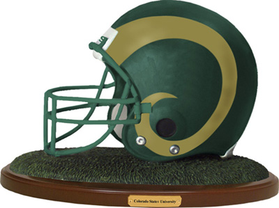 Colorado State Rams Collectible Football Helmet Figurine
