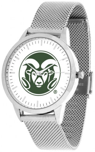 Colorado State Rams Silver Mesh Statement Watch