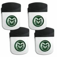 Colorado State Rams 4 Pack Chip Clip Magnet with Bottle Opener