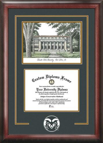 Colorado State Rams Spirit Diploma Frame with Campus Image