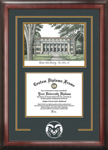 Colorado State Rams Spirit Diploma Frame with Campus Image