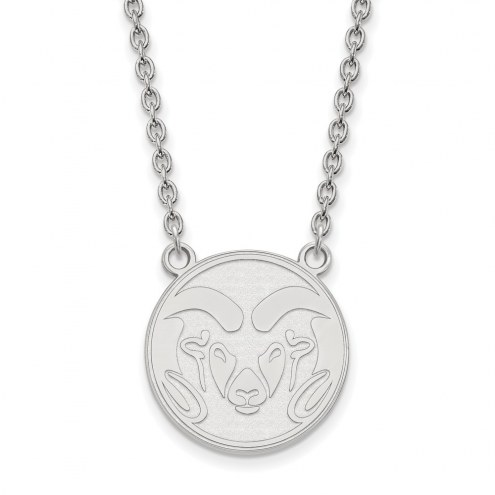 Colorado State Rams Sterling Silver Large Pendant Necklace