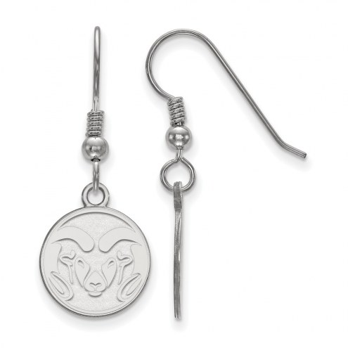 Colorado State Rams Sterling Silver Small Dangle Earrings
