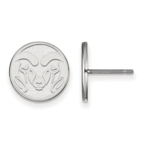 Colorado State Rams Sterling Silver Small Post Earrings