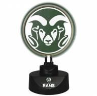 Colorado State Rams Team Logo Neon Lamp