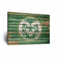 Colorado State Rams Weathered Canvas Wall Art