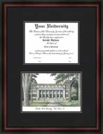 Colorado State Rams Diplomate Framed Lithograph with Diploma Opening