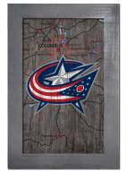 "Columbus Blue Jackets 11"" x 19"" City Map Framed Sign"