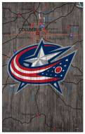"Columbus Blue Jackets 11"" x 19"" City Map Sign"